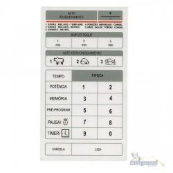 Membrana Teclado Microondas Brastemp / Samsung  Bmp28e / MW5700